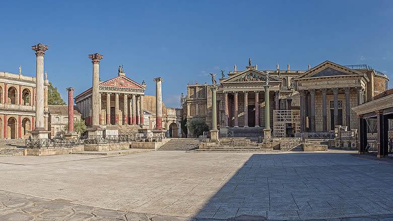 Set van het Romeinse Rijk in Cinecittà