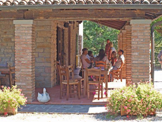 Al fresco lunch in Emilia Romagna