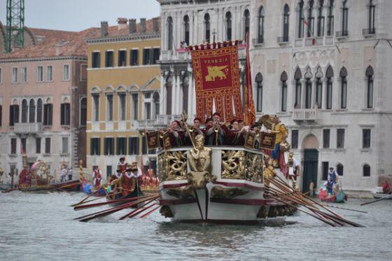 De historische regata van Venetie, een folkoristisch evenement
