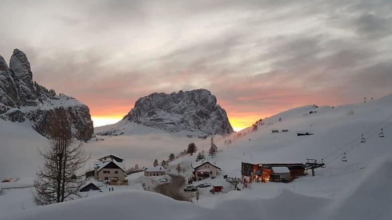 Het skigebied van Selva di Val Gardena
