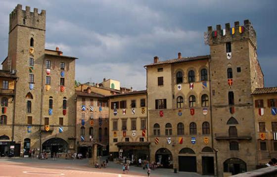 Een luie, warme dag in Arezzo