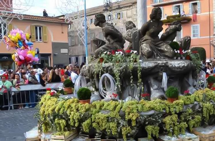 Sagra del'Uvo, een mirakels wijnfestival in Marino (Lazio)