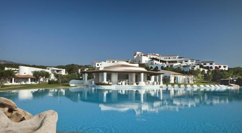 strandhotel op Sardinie