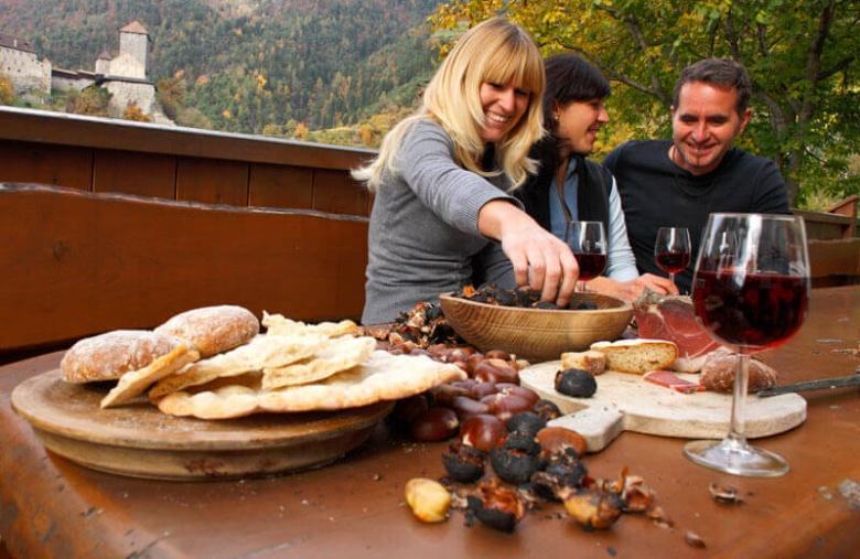 Kastanje-weken in Zuid Tirol