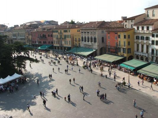 Piazza Bra in Verona, Veneto