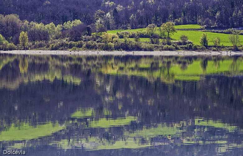 Het meer van Bilancino vroeg in het voorjaar