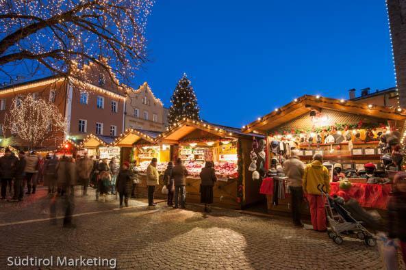 Kerstmarkten in Zuid Tirol, met de kerst in de Dolomieten