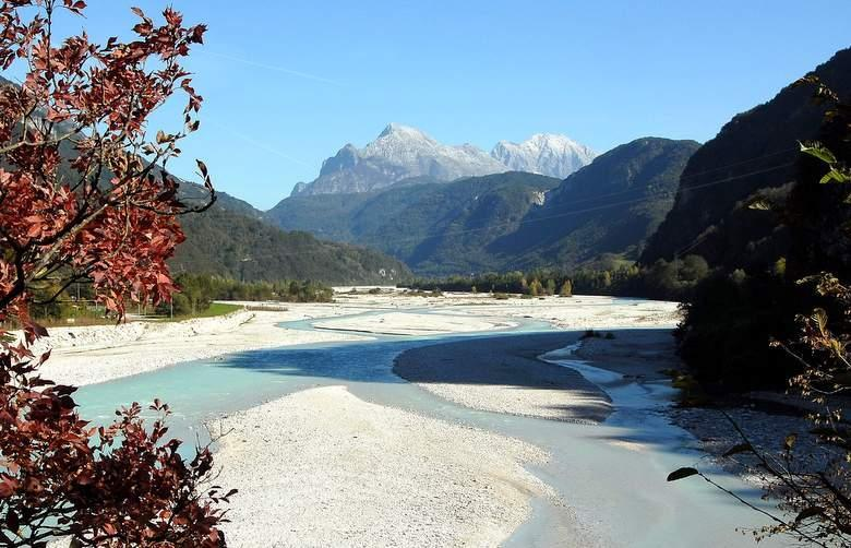 Friuli met de Alpen op de achtergrond