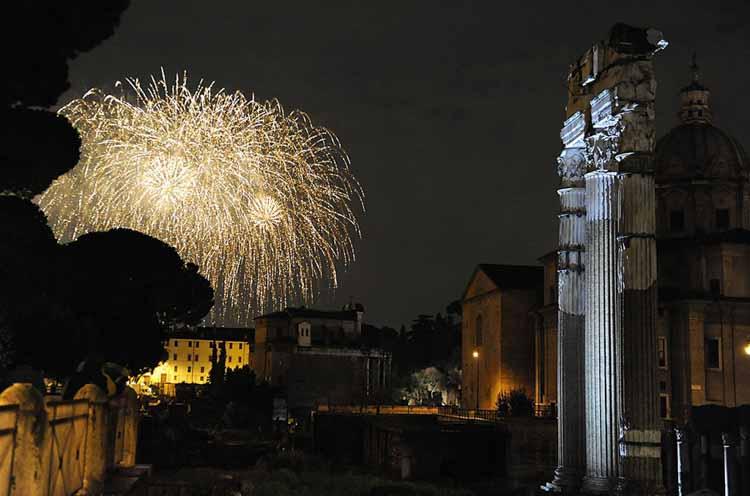 Vuurwerk Capodanno Rome