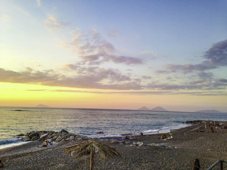 Capo d´Orlando bij zonsondergang