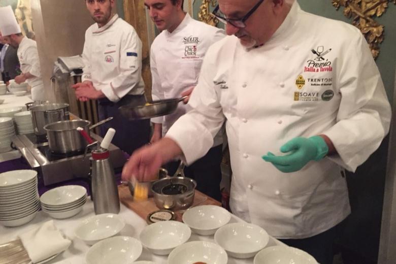 Beroemde Chef koks aan het werk in Palazzo Vecchio