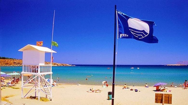 Strand bij Otranto in Italie