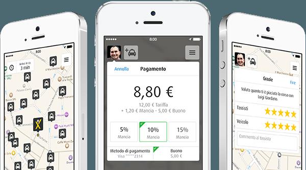 Taxi apps van MyTaxi