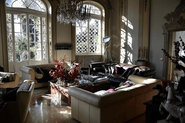 19de eeuwse villa in Villa Borghese centrum Rome