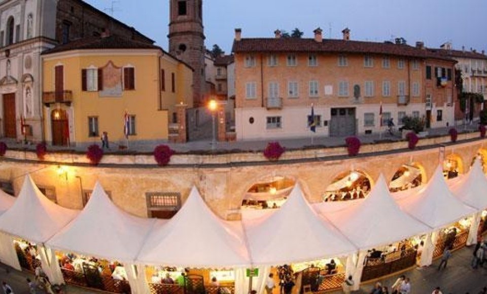Slowfood kaasevenement in Bra, Piemonte