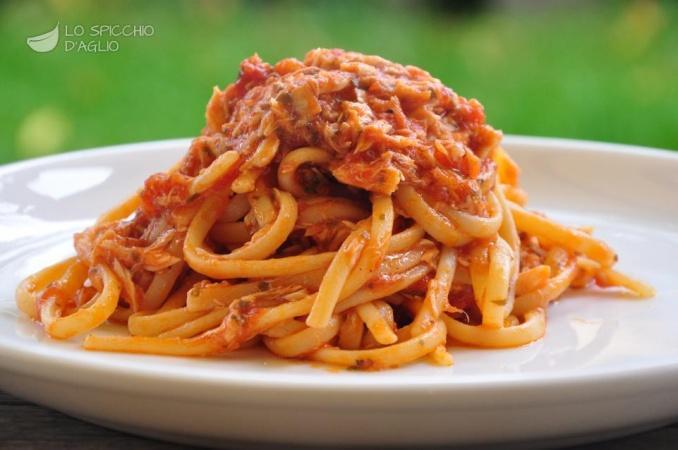 Spaghetti met zeeduivel
