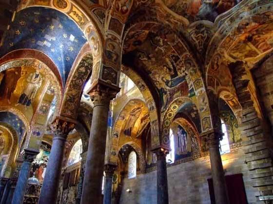 Onverwachte interieuren in het Castello di Zisa in Palermo